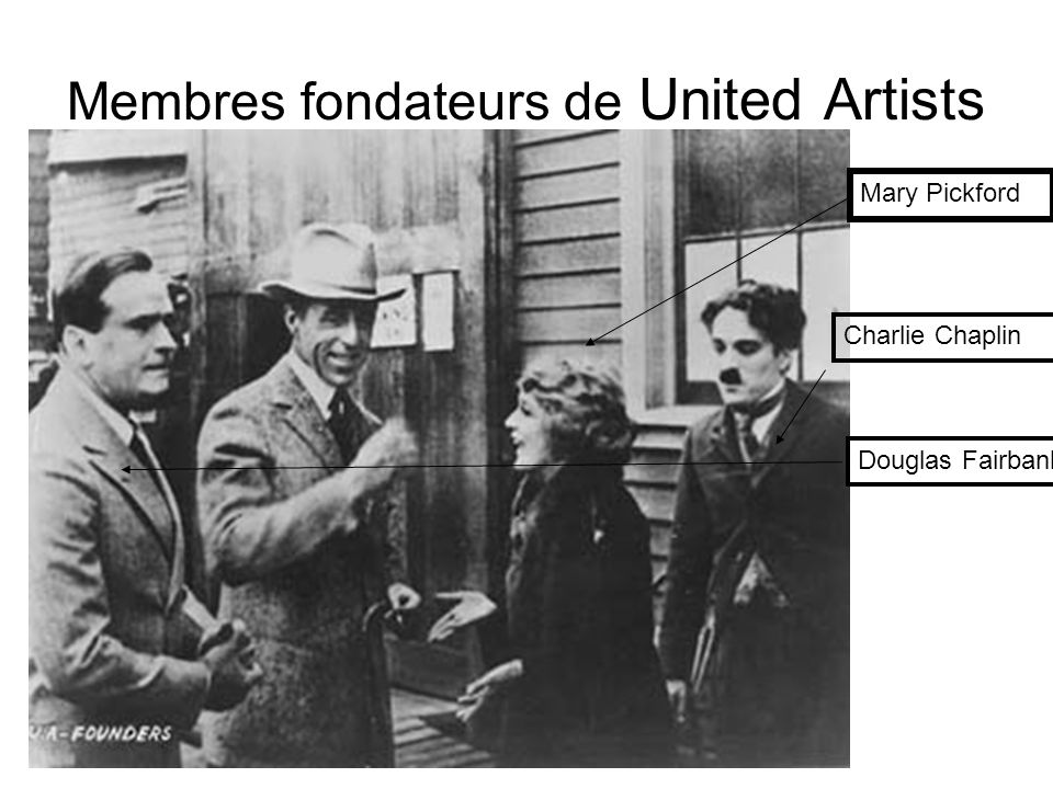 Membres fondateurs de United Artists