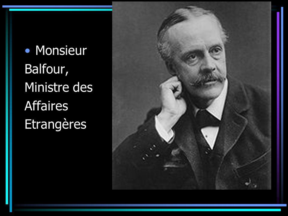 Monsieur Balfour, Ministre des Affaires Etrangères