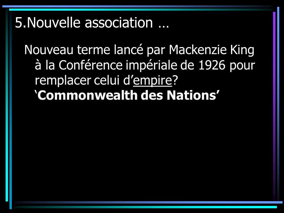5.Nouvelle association …