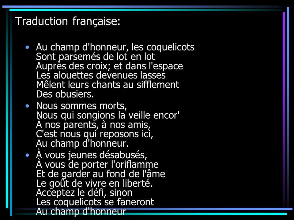Traduction française: