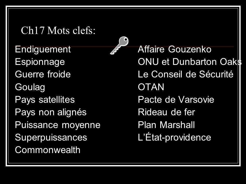 Ch17 Mots clefs: Endiguement Affaire Gouzenko