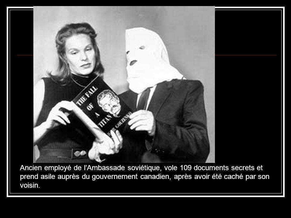 Ancien employé de l'Ambassade soviétique, vole 109 documents secrets et