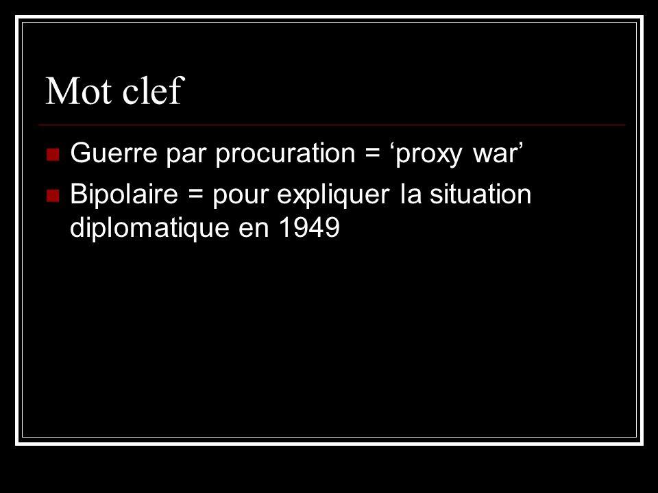 Mot clef Guerre par procuration = 'proxy war'