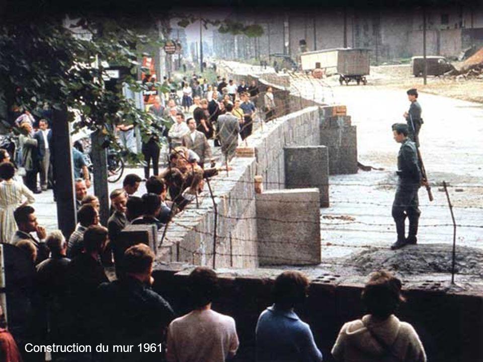 Construction du mur 1961