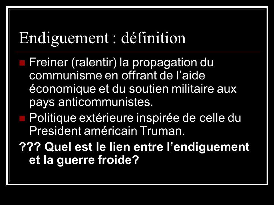 Endiguement : définition