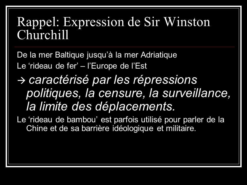 Rappel: Expression de Sir Winston Churchill