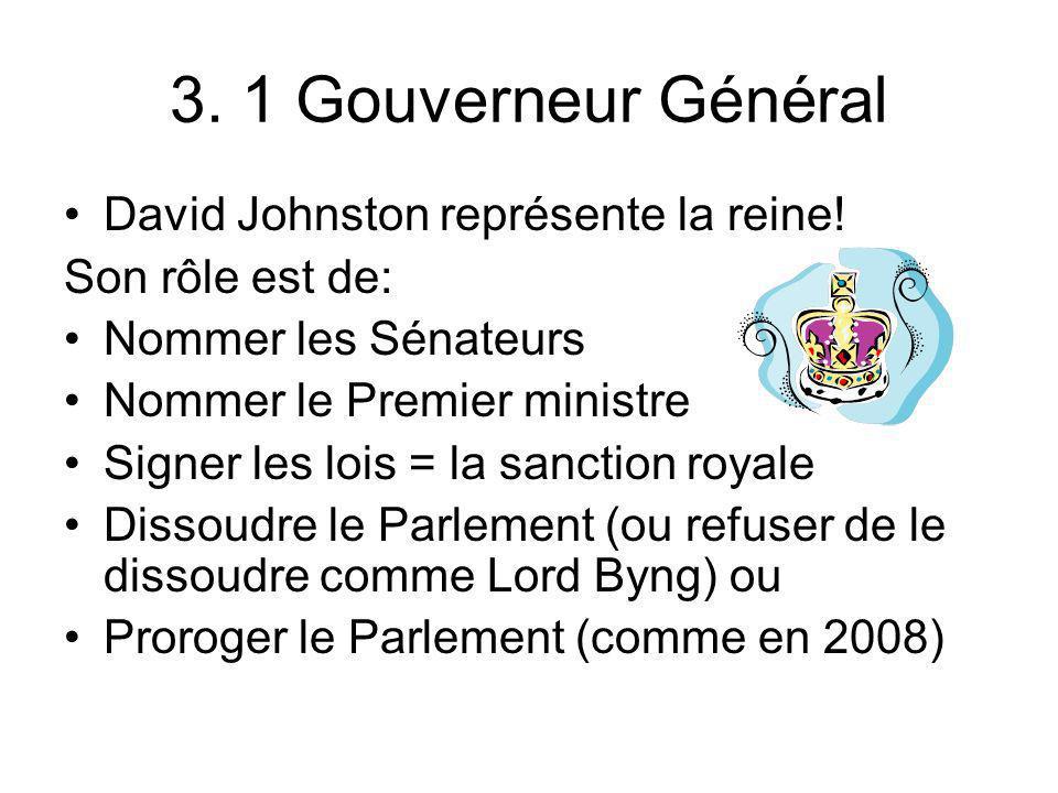3. 1 Gouverneur Général David Johnston représente la reine!