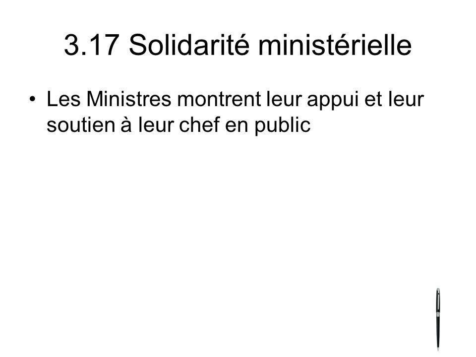3.17 Solidarité ministérielle
