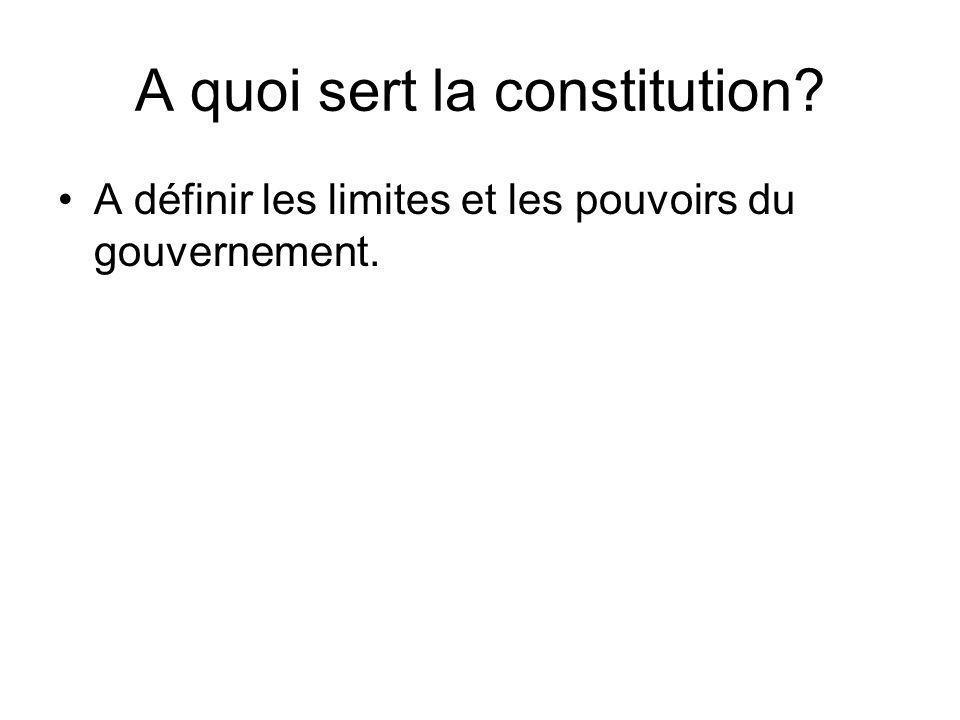 A quoi sert la constitution