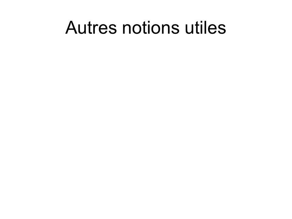 Autres notions utiles