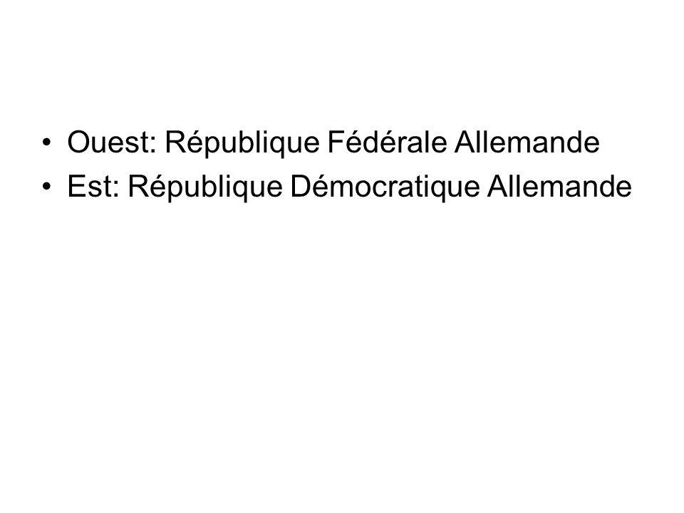 Ouest: République Fédérale Allemande