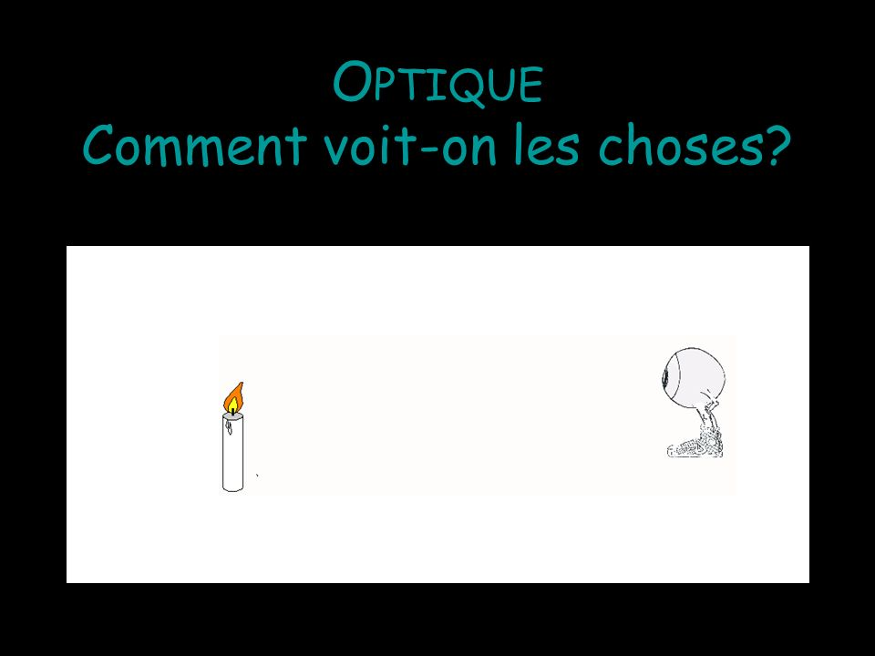 Optique Comment voit-on les choses