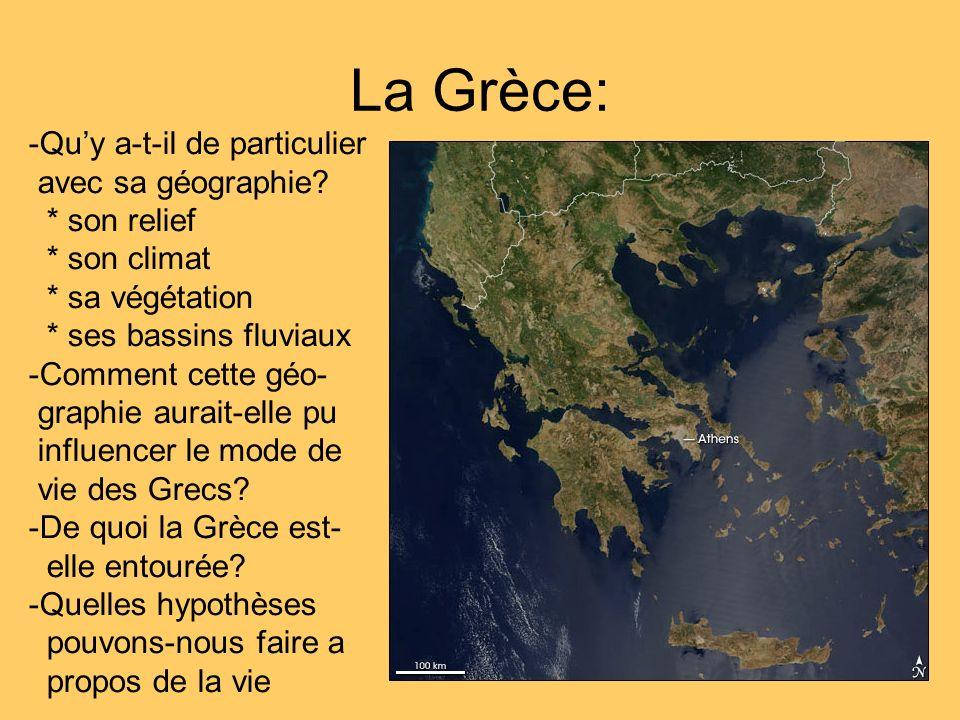 La Grèce: Qu'y a-t-il de particulier avec sa géographie * son relief