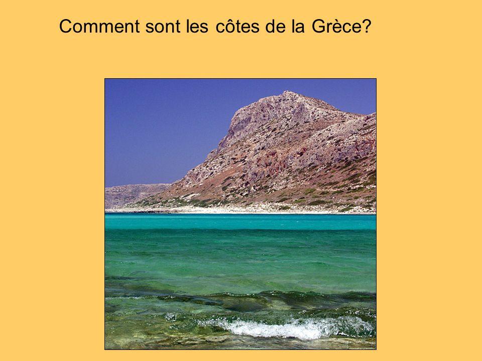Comment sont les côtes de la Grèce