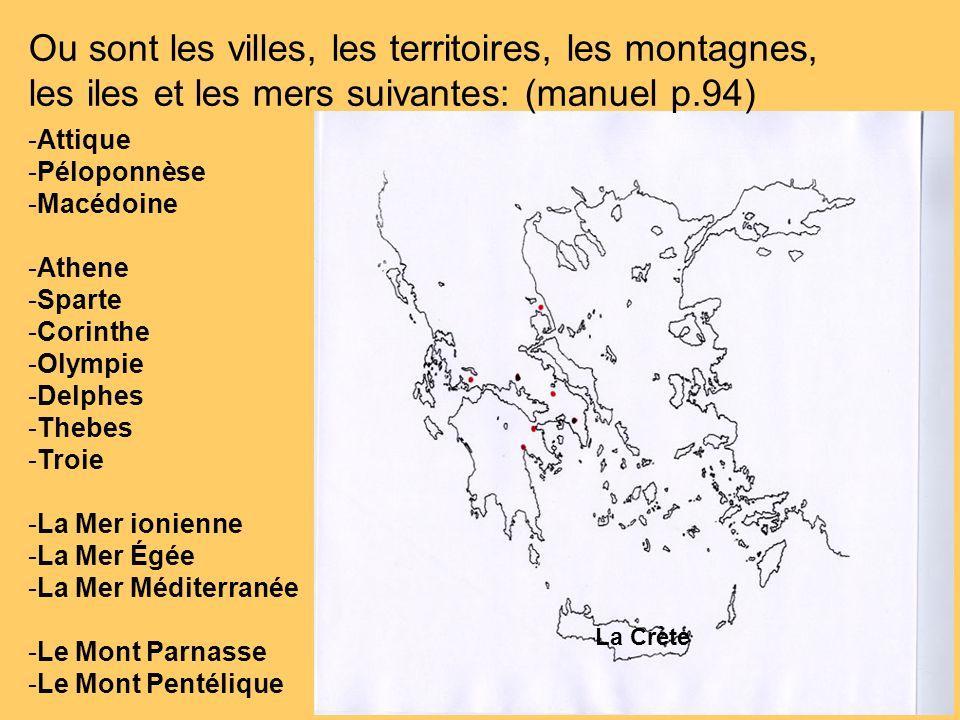 Ou sont les villes, les territoires, les montagnes,