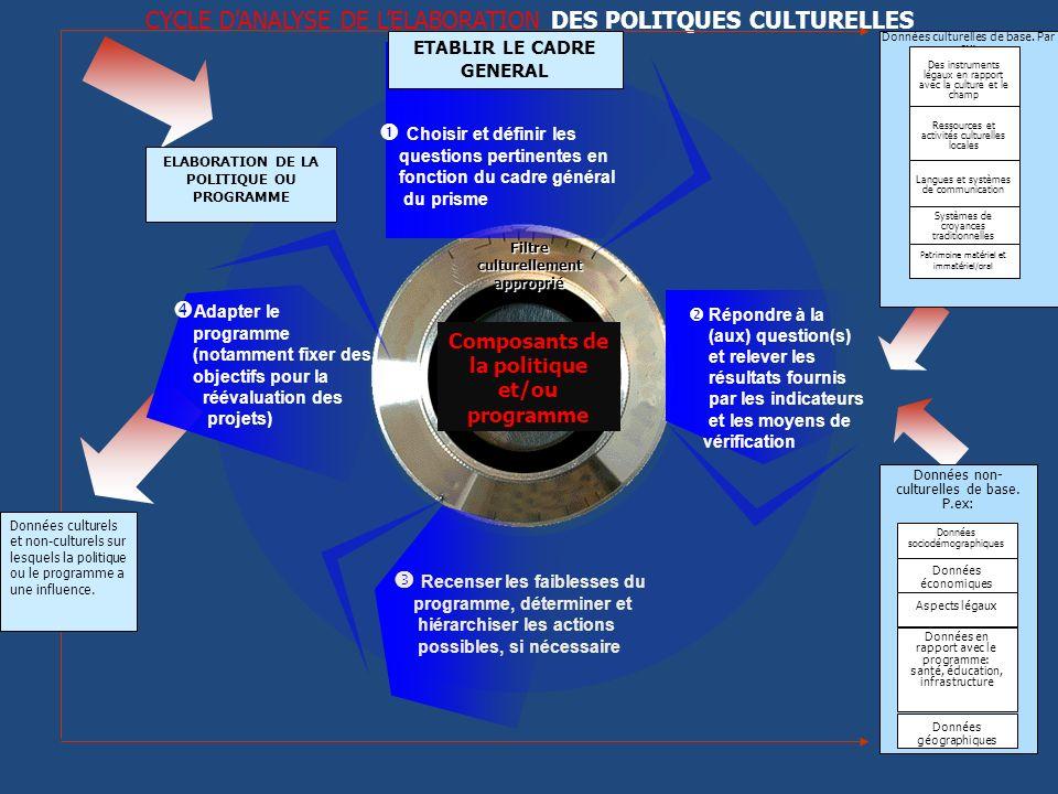 CYCLE D'ANALYSE DE L'ELABORATION DES POLITQUES CULTURELLES