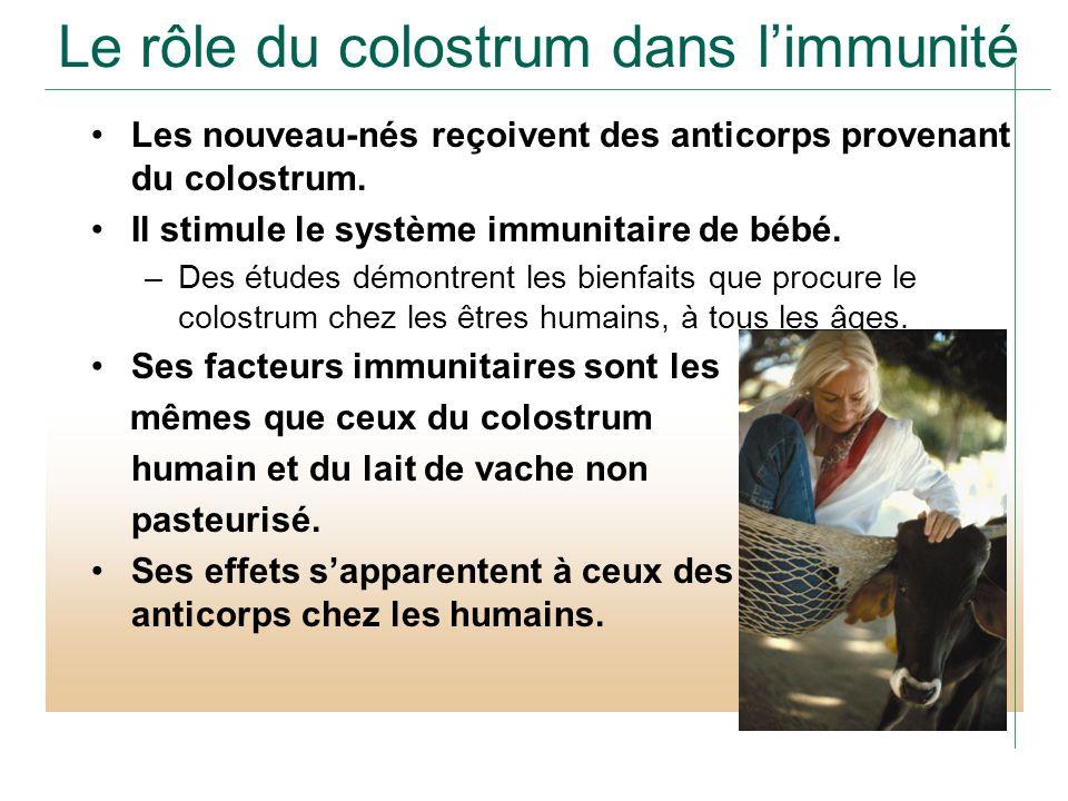 Le rôle du colostrum dans l'immunité