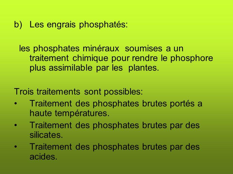 Les engrais phosphatés: