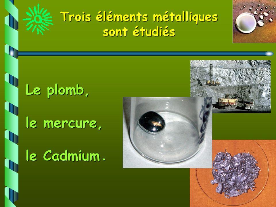 Trois éléments métalliques sont étudiés
