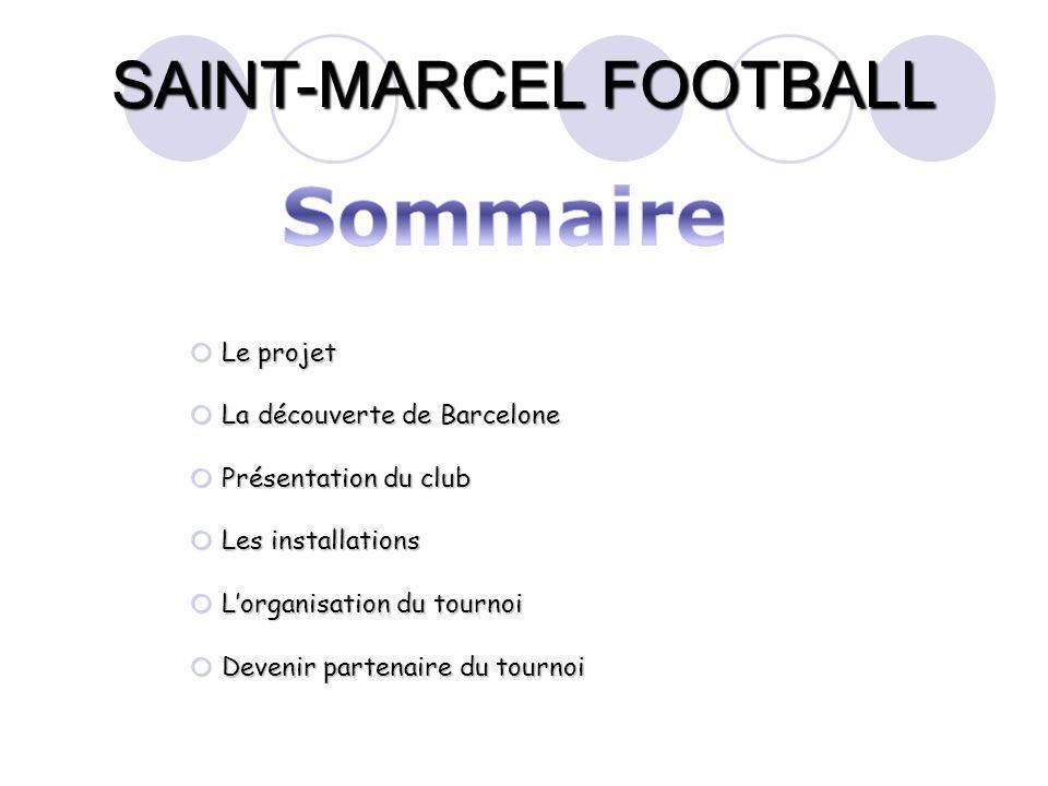 Sommaire Le projet La découverte de Barcelone Présentation du club