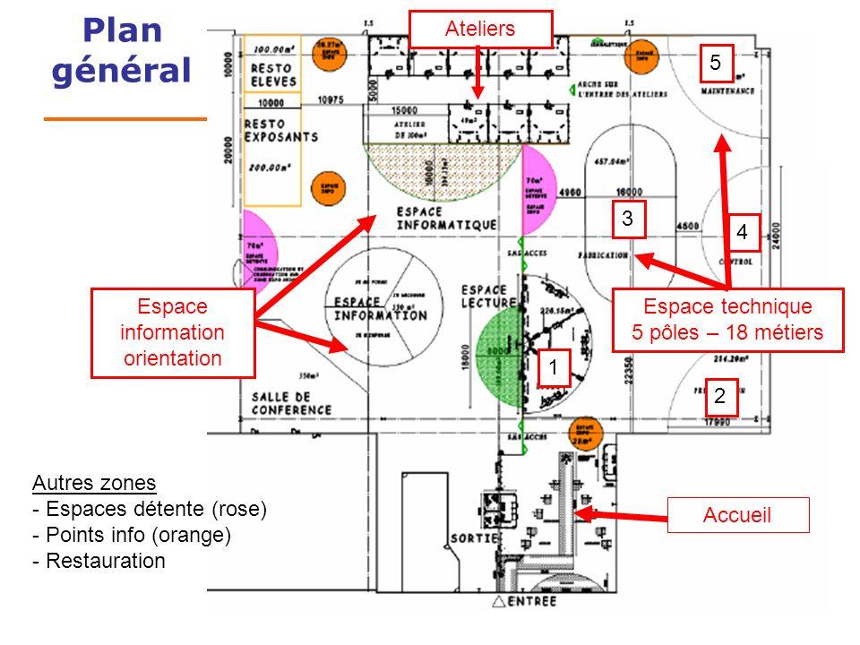Plan général Ateliers 5 Espace technique 5 pôles – 18 métiers 3