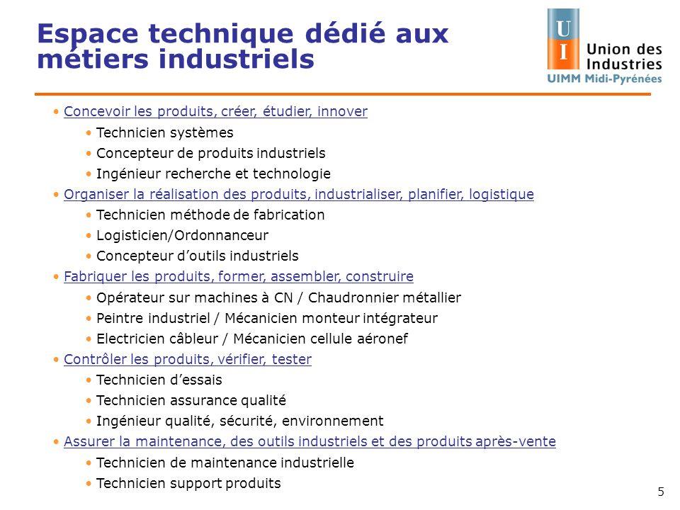 Espace technique dédié aux métiers industriels