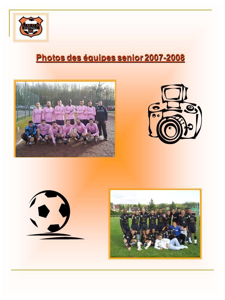 Photos des équipes senior 2007-2008