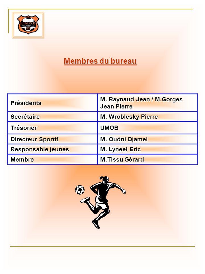 Membres du bureau Présidents M. Raynaud Jean / M.Gorges Jean Pierre