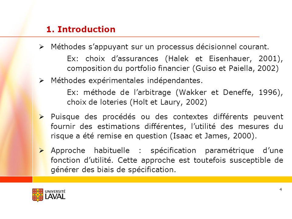 1. Introduction Méthodes s'appuyant sur un processus décisionnel courant.