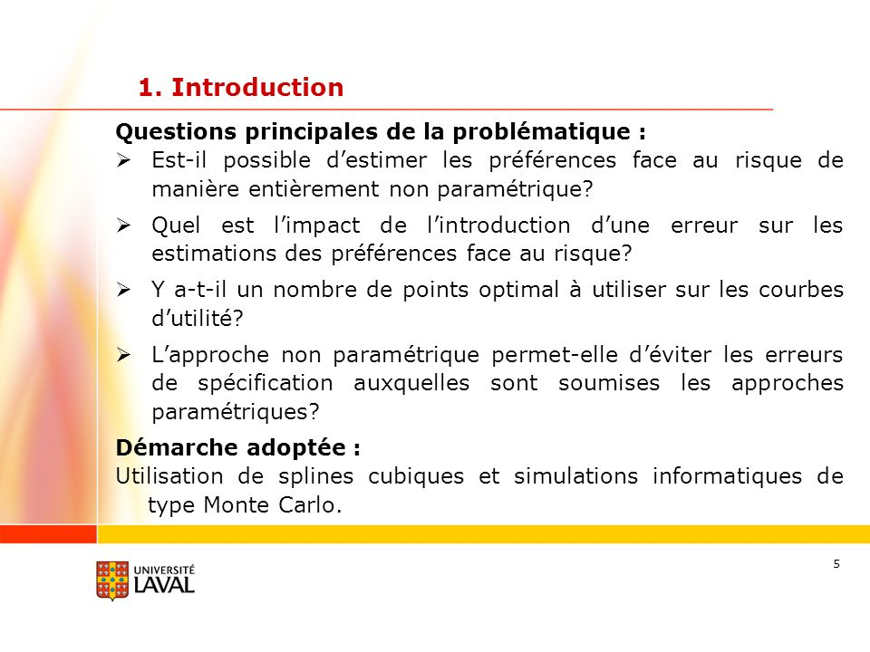1. Introduction Questions principales de la problématique :