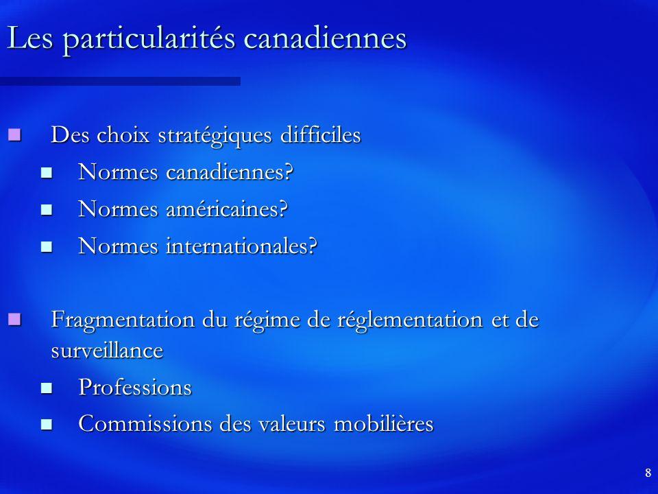 Les particularités canadiennes