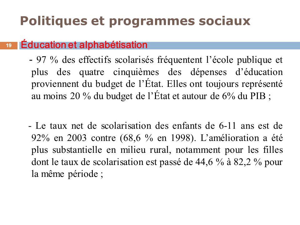 Politiques et programmes sociaux