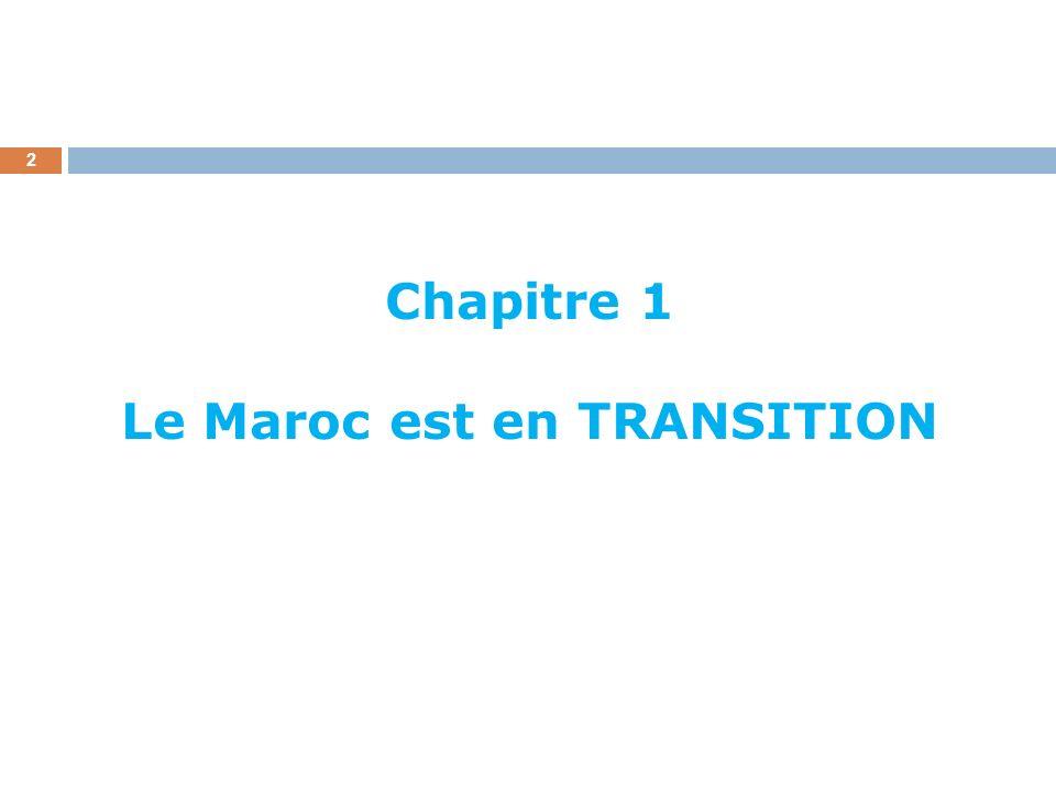 Chapitre 1 Le Maroc est en TRANSITION