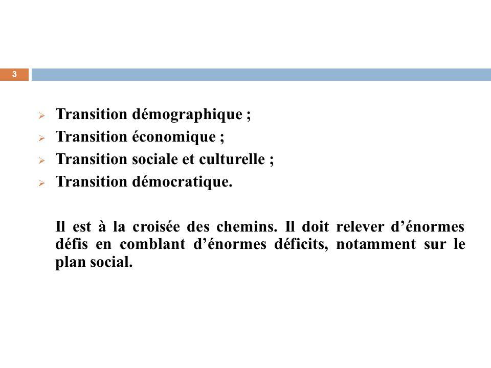 Transition démographique ;