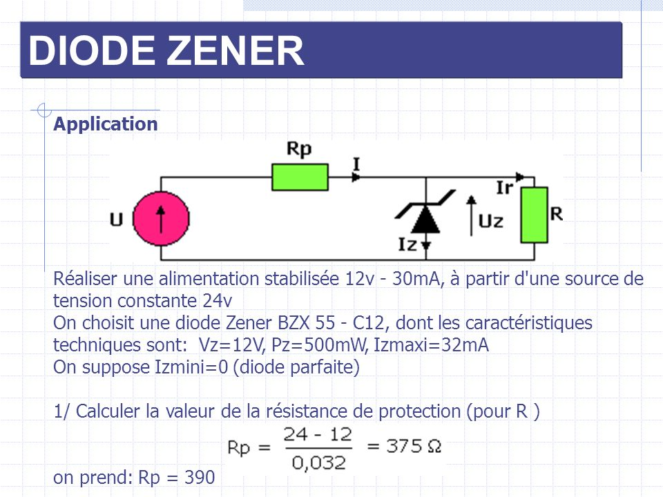 DIODE ZENER Application
