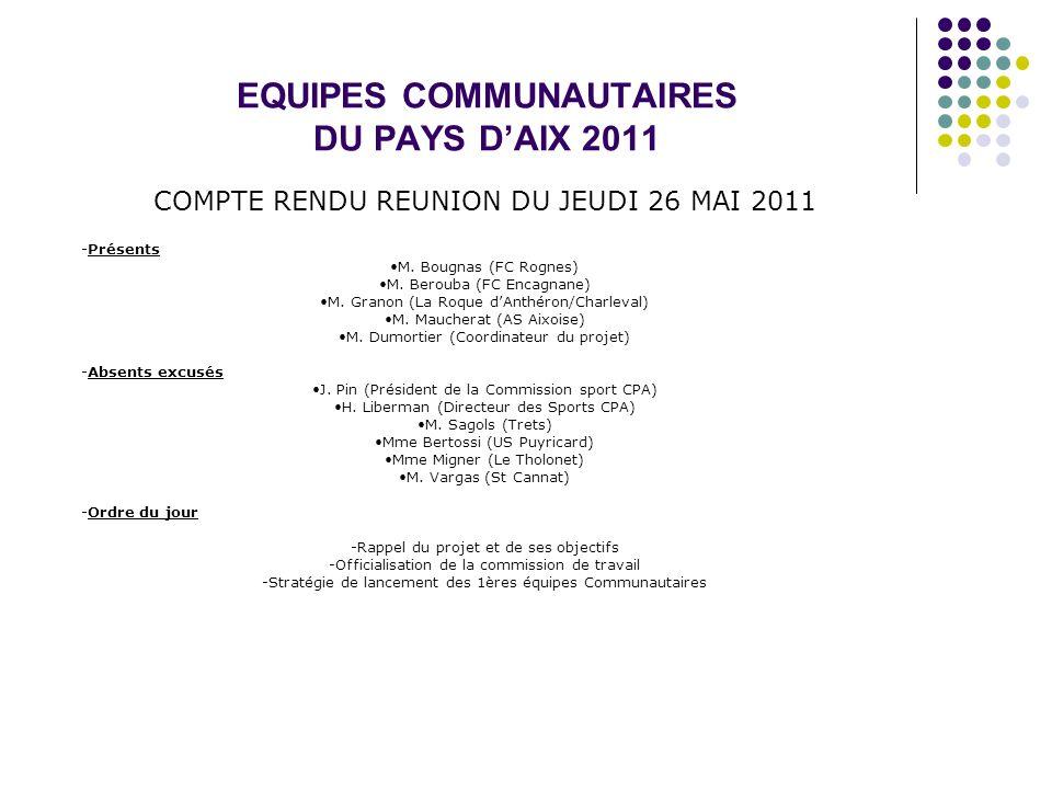 EQUIPES COMMUNAUTAIRES DU PAYS D'AIX 2011