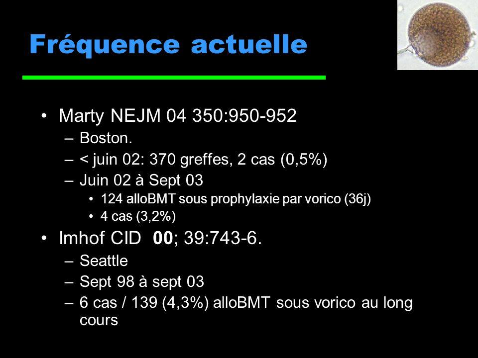 Fréquence actuelle Marty NEJM 04 350:950-952 Imhof CID 00; 39:743-6.