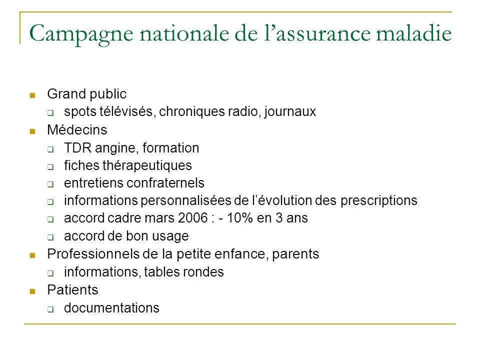 Campagne nationale de l'assurance maladie