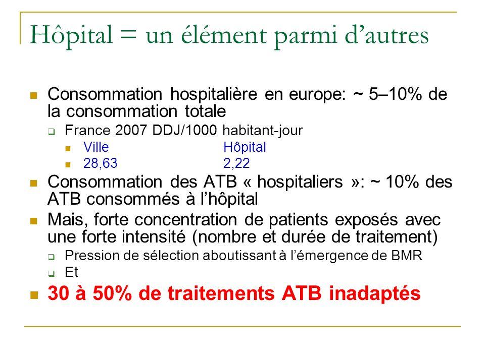 Hôpital = un élément parmi d'autres