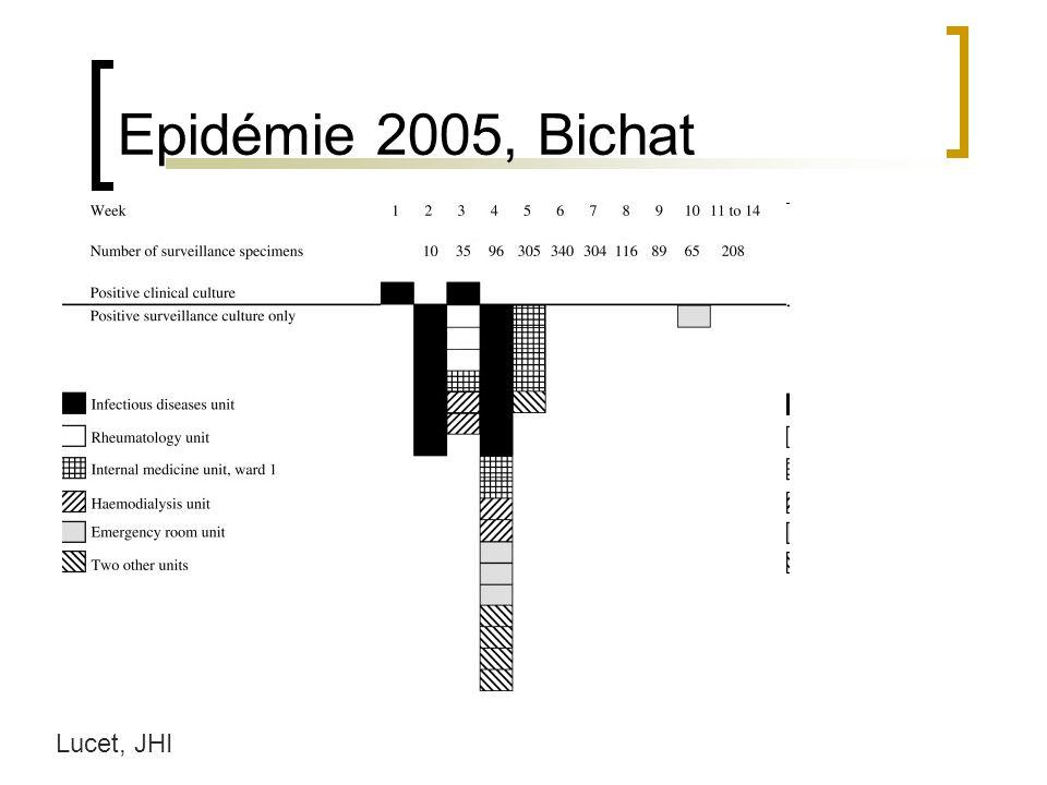 Epidémie 2005, Bichat Lucet, JHI