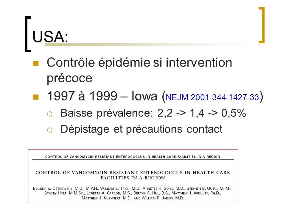 USA: Contrôle épidémie si intervention précoce