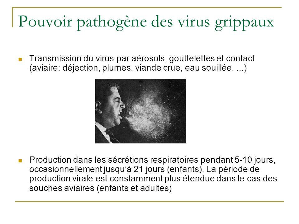 Pouvoir pathogène des virus grippaux