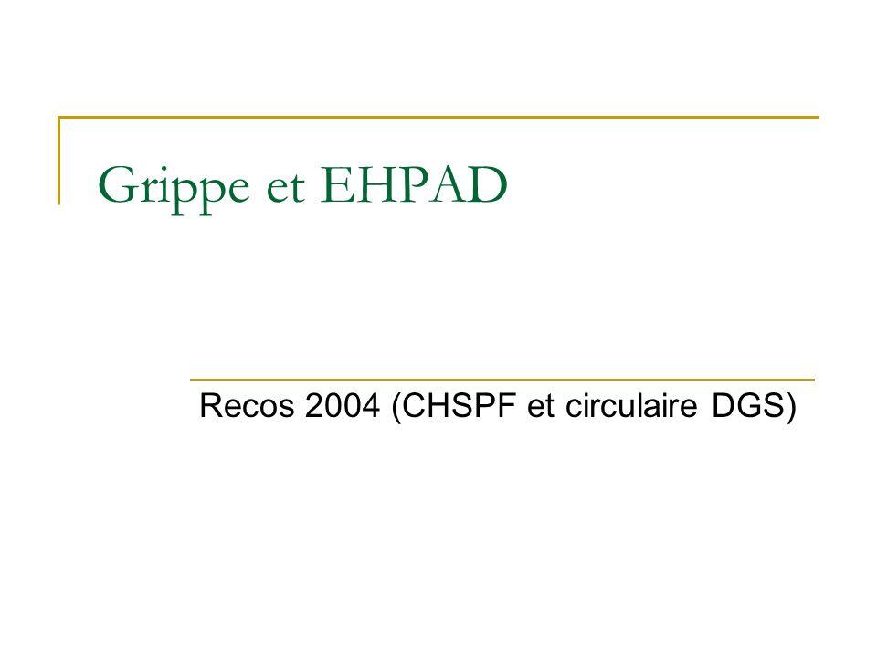 Recos 2004 (CHSPF et circulaire DGS)