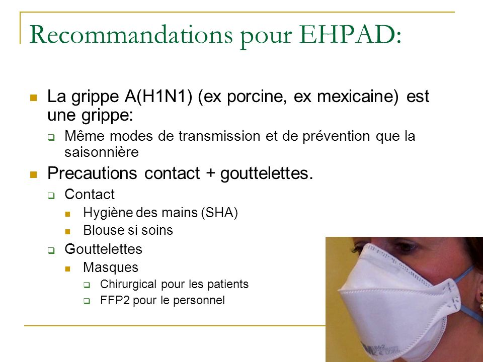 Recommandations pour EHPAD:
