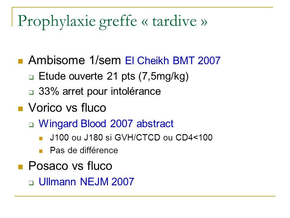 Prophylaxie greffe « tardive »