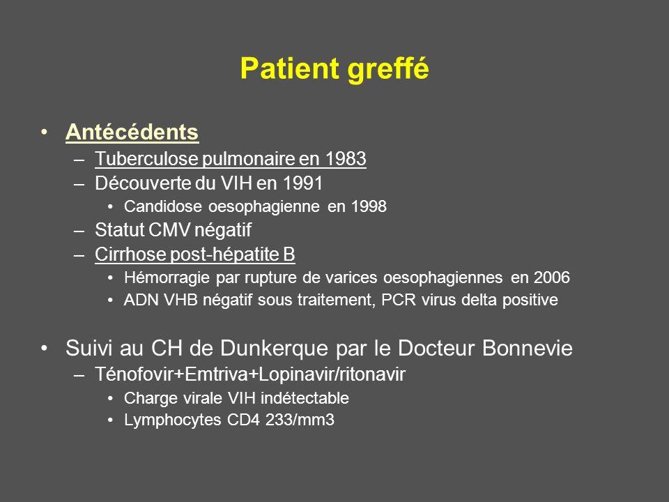 Patient greffé Antécédents