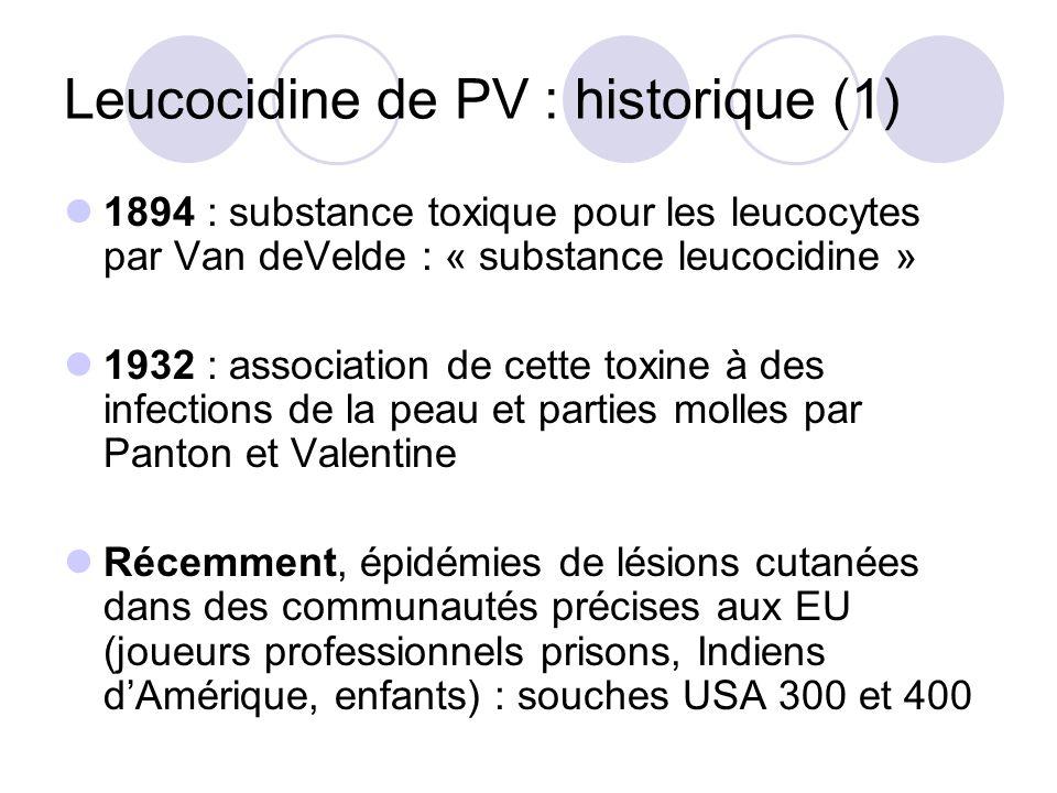 Leucocidine de PV : historique (1)