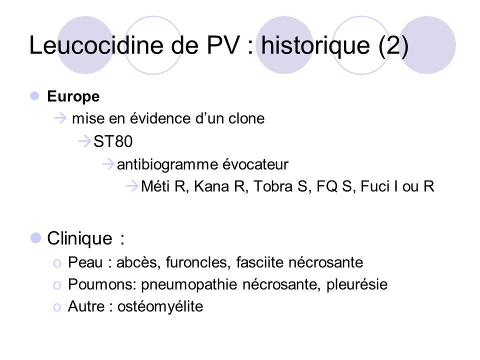 Leucocidine de PV : historique (2)