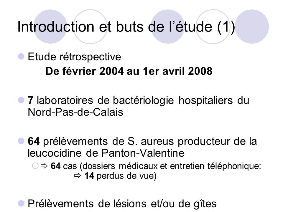 Introduction et buts de l'étude (1)