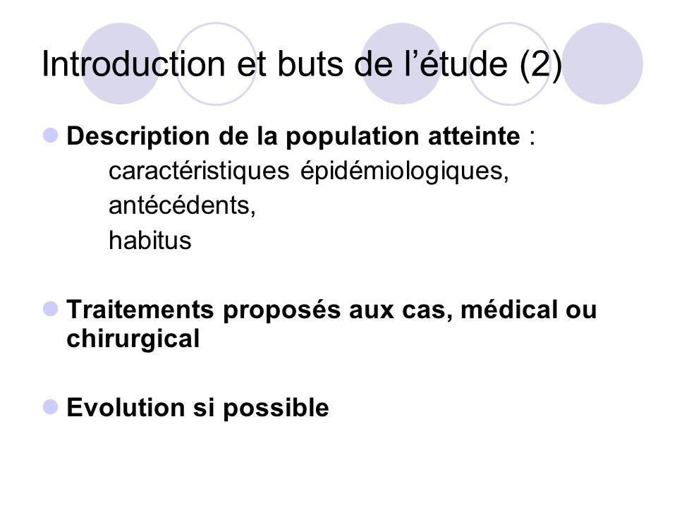 Introduction et buts de l'étude (2)